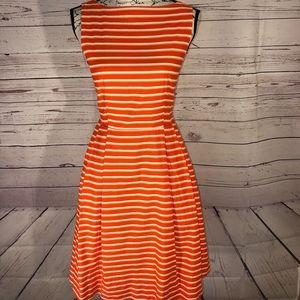 L.L. Bean Poplin Fit And Flare Dress Size 0